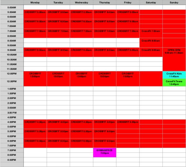 Jan2020 Schedule
